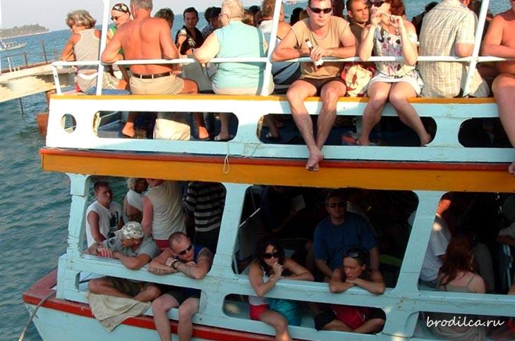 Пассажиры парома