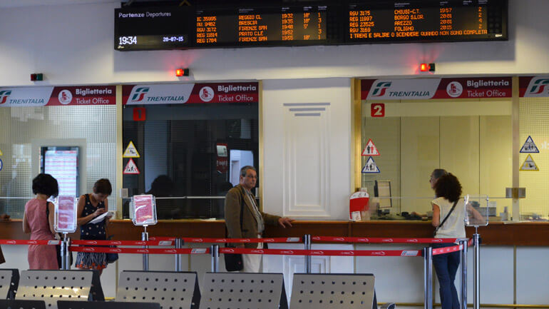 Как купить билет на поезд до Флоренции