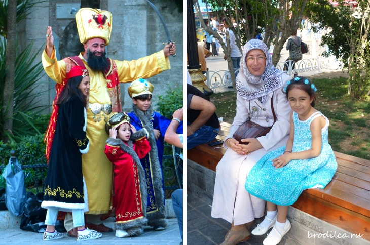Турки обожают детей