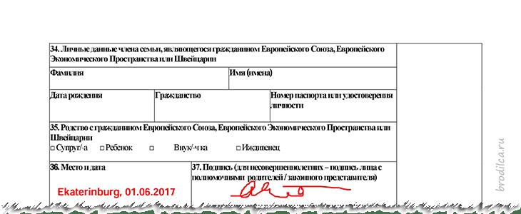 Место и дата подписания