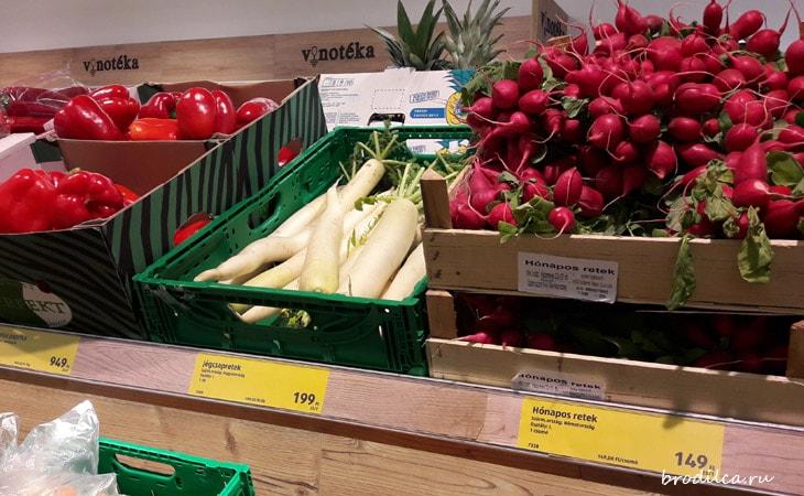 Овощи в магазинах