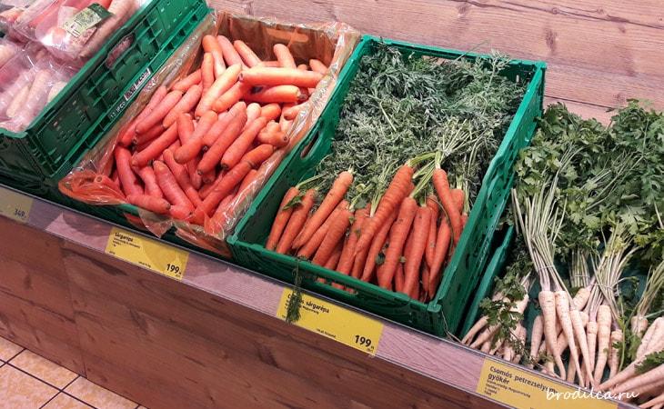 Цена на морковку