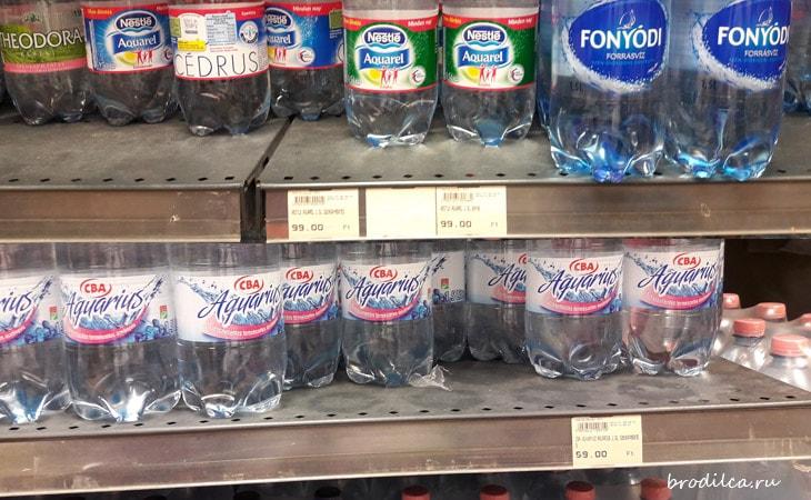 Цены на воду