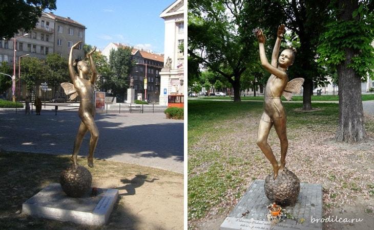 Памятник маленькой балерине